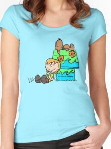 SNOOPY-DOO - SHAGGY BROWN Women's Fitted Scoop T-Shirt