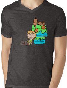 SNOOPY-DOO - SHAGGY BROWN Mens V-Neck T-Shirt