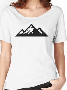 Mountain Mountains Skiing Ski Silhouette SNOWBOARD SNOWBOARDING Women's Relaxed Fit T-Shirt