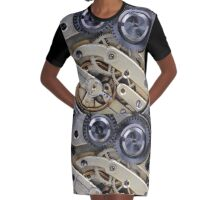 Clockwork  Graphic T-Shirt Dress