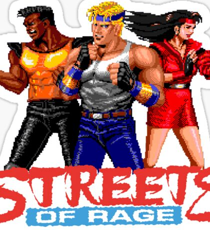 STREETS OF RAGE - AXEL-BLAZE-ADAM  Sticker