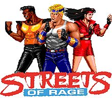 STREETS OF RAGE - AXEL-BLAZE-ADAM  Photographic Print