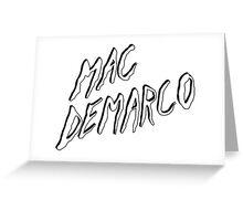 Mac Demarco logo Greeting Card