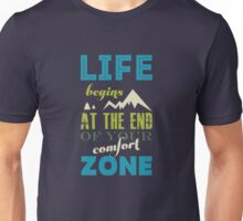 Vintage Life Inspirational Quote Typography Print  Unisex T-Shirt