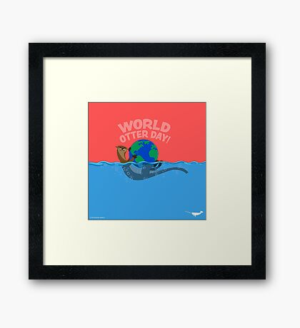 World Otter Day Framed Print