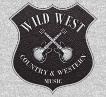 Wild West Country Western Music   One Piece - Long Sleeve