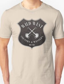 Wild West Country Western Music   Unisex T-Shirt