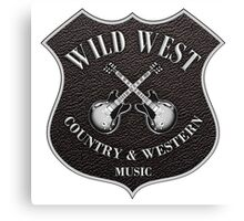 Wild West Country Western Music   Canvas Print