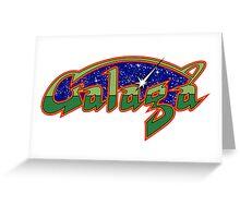 GALAGA CLASSIC ARCADE GAME Greeting Card