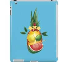 Funny tropic exotic pineapple  fellow  iPad Case/Skin