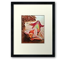 Mermaid in the Sunset Framed Print