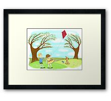 Kites Are Fun Framed Print