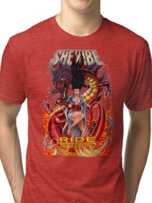 SheVibe Ride BodyWorx by Sliquid Cover Art Tri-blend T-Shirt