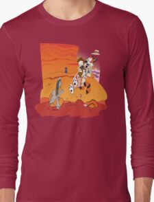 Calvin and Hobbes: Doctor Who From Another Planet! Long Sleeve T-Shirt