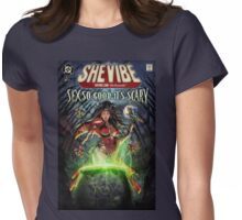 SheVibe Sliquid Cover Art Womens Fitted T-Shirt