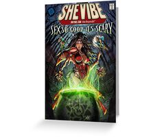 SheVibe Sliquid Cover Art Greeting Card