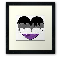 Bleeding Heart Asexual Framed Print