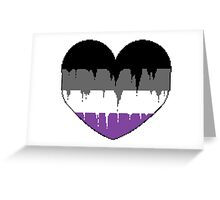 Bleeding Heart Asexual Greeting Card