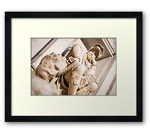 Michelangelo's sculpture Framed Print