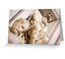 Michelangelo's sculpture Greeting Card