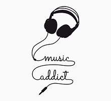 music addict with headphone Unisex T-Shirt