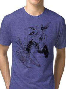 The Amazing Spider-Man art Tri-blend T-Shirt