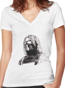 Winter Soldier art 2 Women's Fitted V-Neck T-Shirt