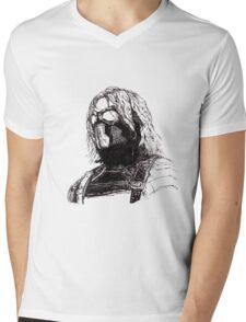 Winter Soldier art 2 Mens V-Neck T-Shirt
