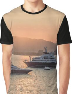 France Cannes Festival Cruisers Sunset Graphic T-Shirt