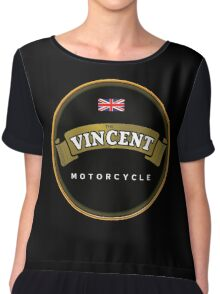 Vincent motorcycle England Chiffon Top