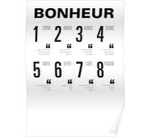 Bonheur - Typography Poster