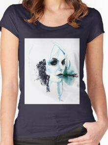 Watercolor Taylor Momsen fan art portrait Women's Fitted Scoop T-Shirt
