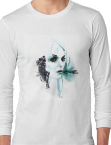 Watercolor Taylor Momsen fan art portrait Long Sleeve T-Shirt