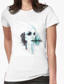 Watercolor Taylor Momsen fan art portrait Womens Fitted T-Shirt