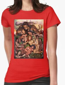 SheVibe Pan Orgy Cover Art - Safe Womens Fitted T-Shirt
