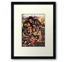 SheVibe Pan Orgy Cover Art - Safe Framed Print