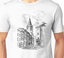 XV century Tower in european city, Poland Unisex T-Shirt