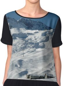 Swiss Winter Snow Scene Chiffon Top