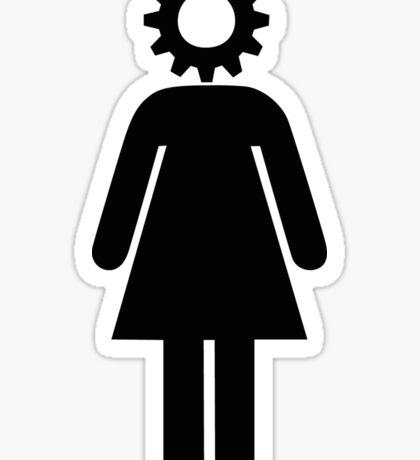 Gear Head girl Sticker