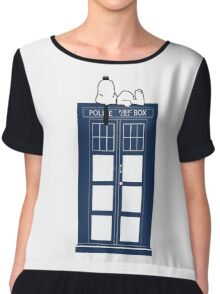 Snoopy / Dr. Who Chiffon Top