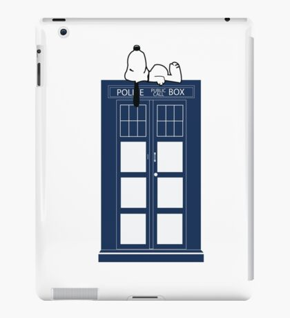 Snoopy / Dr. Who iPad Case/Skin