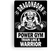 Dragonborn Power Gym Canvas Print