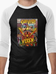 SheVibe Vixen Cover Art Men's Baseball ¾ T-Shirt