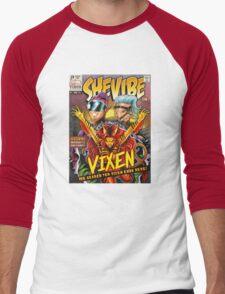 SheVibe Vixen Cover Art Men's Baseball ¾ T-Shirt