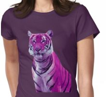 Purple Tigers Womens Fitted T-Shirt
