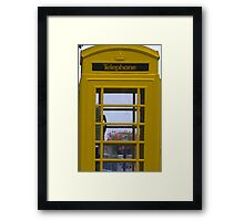 Yellow Phone Box Framed Print
