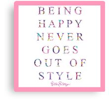 lily pulitzer quote Canvas Print