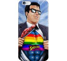 SheVibe Super Human Gay Pride Cover Art iPhone Case/Skin