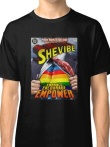 SheVibe Super Human Gay Pride Cover Art Classic T-Shirt