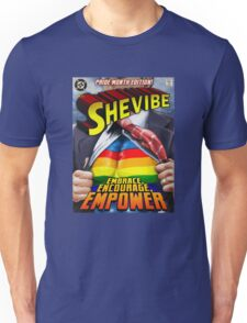 SheVibe Super Human Gay Pride Cover Art Unisex T-Shirt